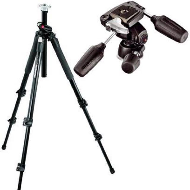 Manfrotto 190XPROB Tripod Legs including 804RC2 3-Way Pan/Tilt Head