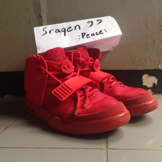 outlet store sale 62773 04bee Nike Air Yeezy 2 Red October, Men s Fashion, Men s Footwear on Carousell