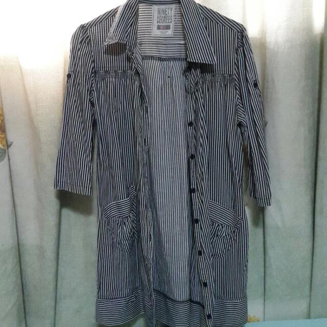 Ninety Degrees Stripes Shirt