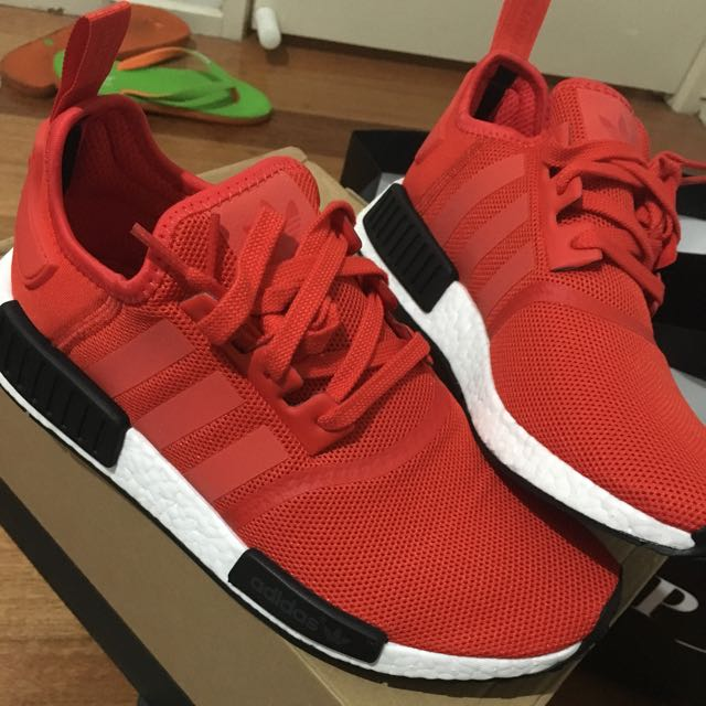 NMD R1 red colour 100% LEGIT