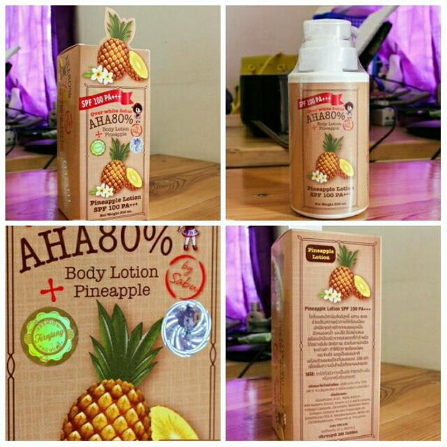 Pineapple Body Lotion AHA 80% SPF 100 PA +++