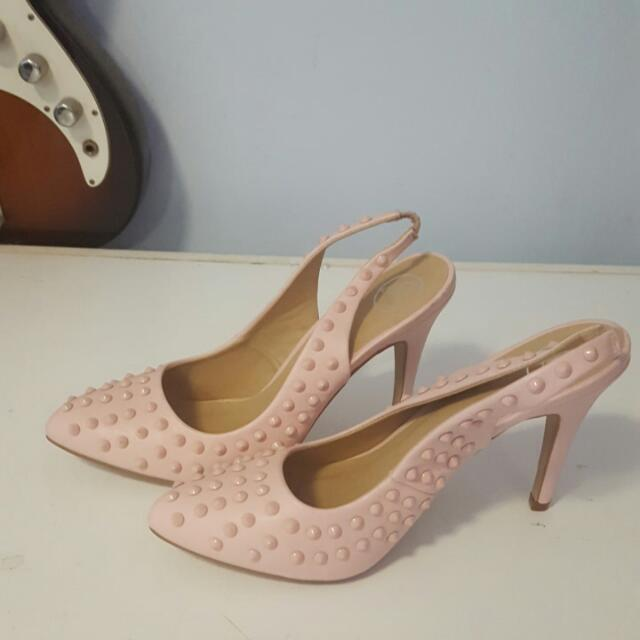 Pink Missguided Heels Size 9