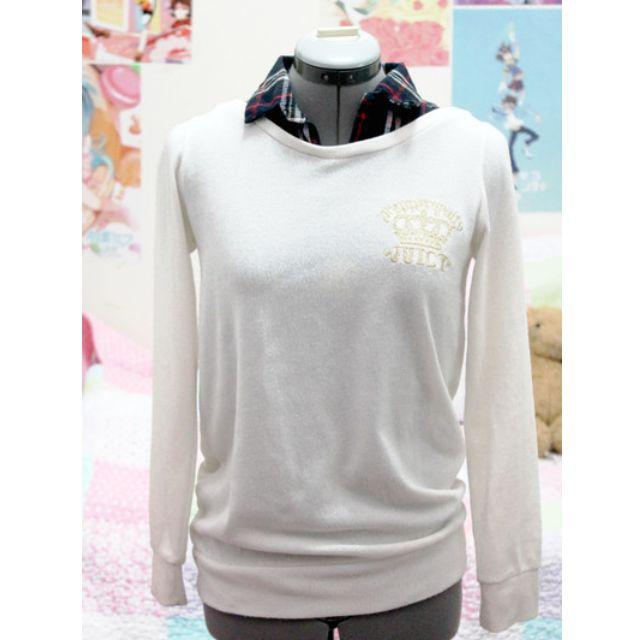 Plaid Collar Sweater
