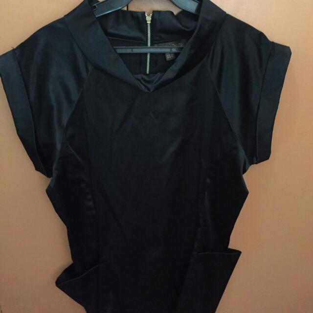 Plains & Prints Black Formal Blouse