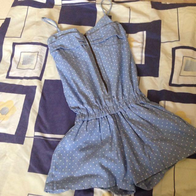 Polka Blue Jumpsuit