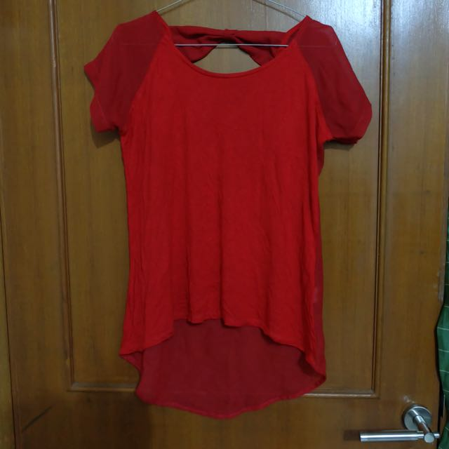 Red Transparent Top Forever21