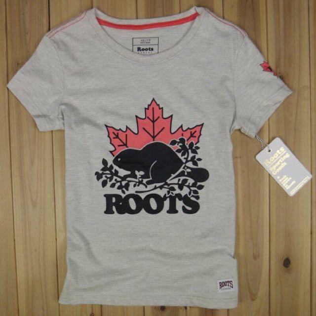 Roots 楓葉大海狸 (米灰色)