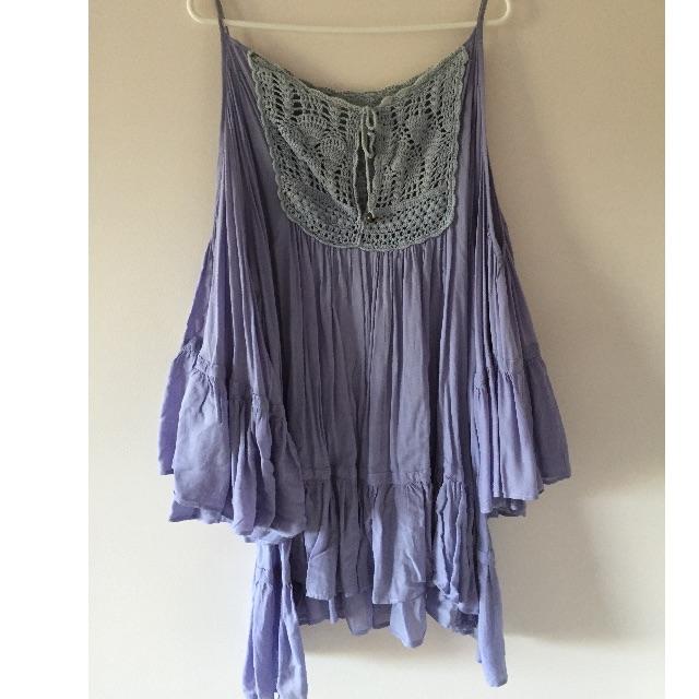 SHONA JOY lilac bohemian dress