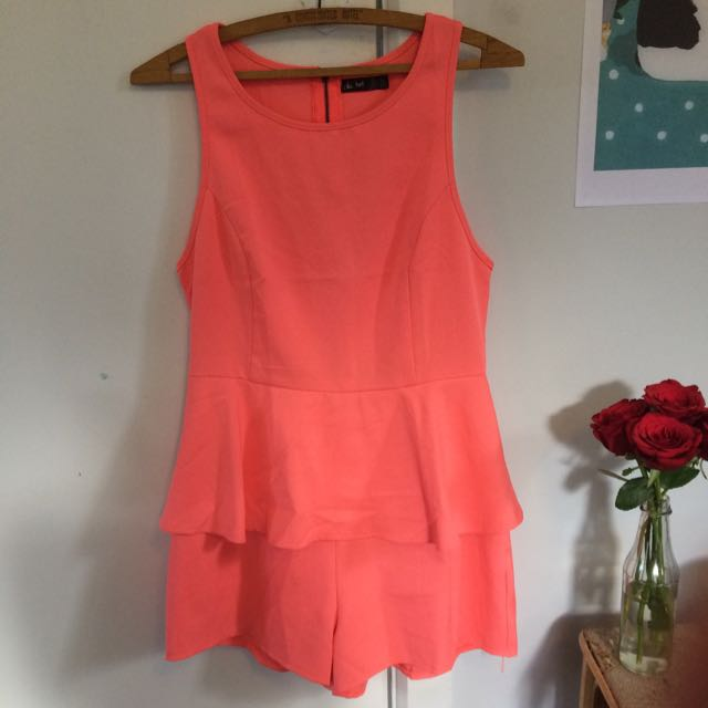 Tangerine Play Suit