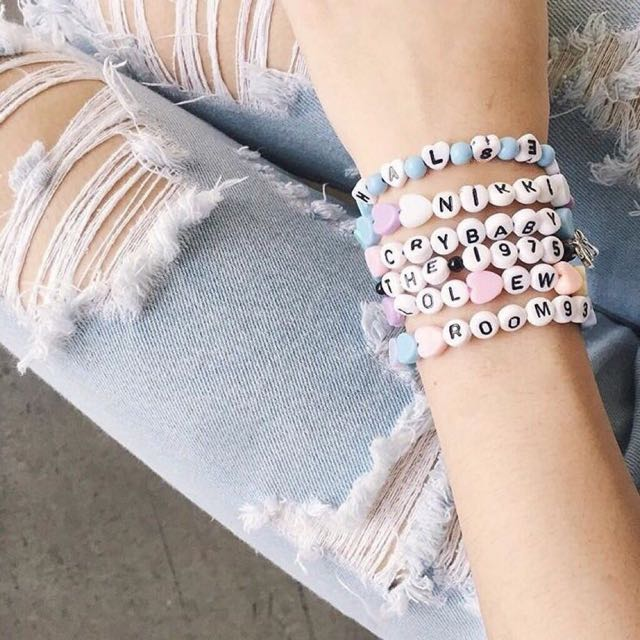 Tumblr Word Bracelet Design Craft Handmade On Carou