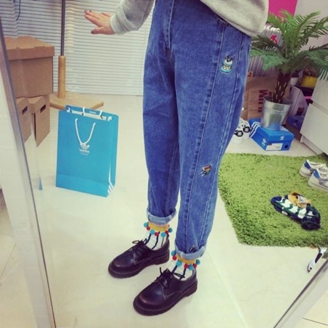 含運)韓國ulzzang復古牛仔褲