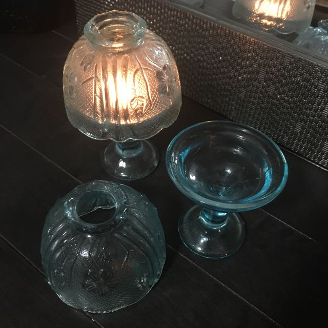 Vintage Style Tea Light Candle Holders