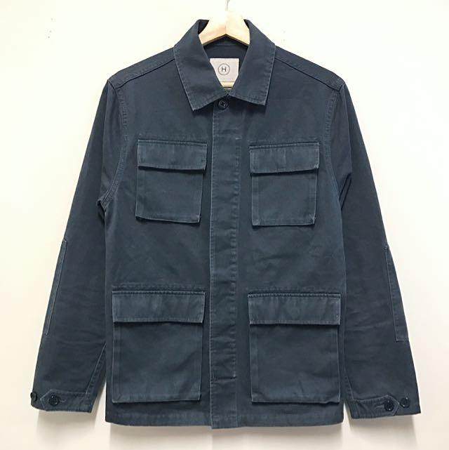 VISVIM style 100% Cotton Military Ash Blue Jacket