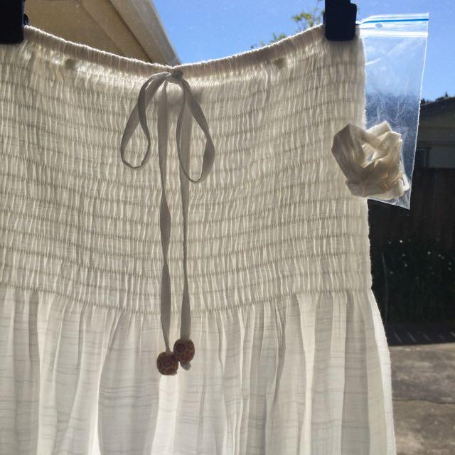 White Strapless Beach Dress (attachable Straps)