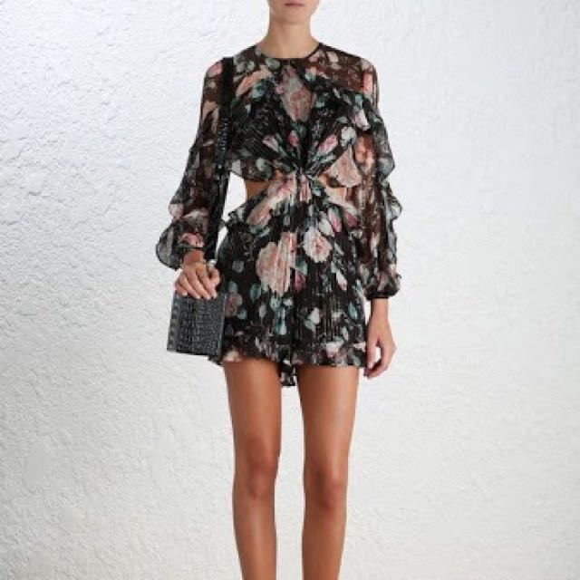 Zimmermann Master Flute Playsuit in Floral, Size 1 (AU10)