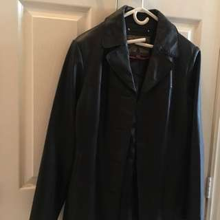 Women's 100% Leather Trench Coat
