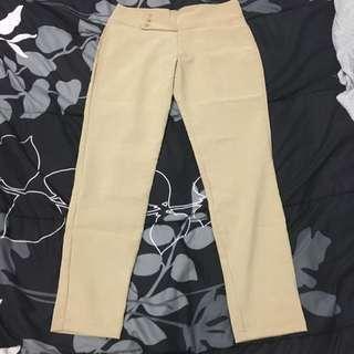 Brand New Stretchable Brown Slacks Pants