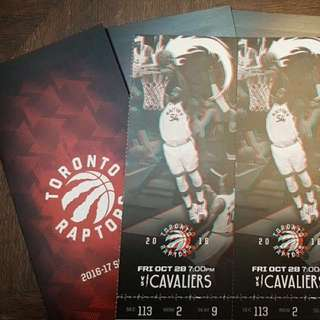 Cavs Vs. Raptors Friday October 28th 2 Tickets