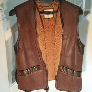Diesel Leather Vest Size L Womens