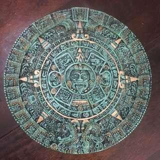 Mayan Calendar Wall Plate