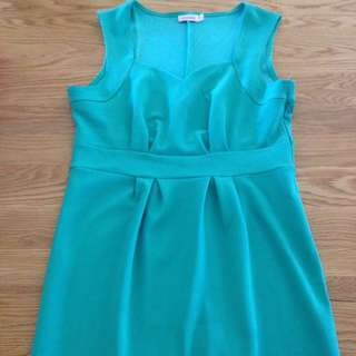Aqua Green Sweet Heart Dress Size 14