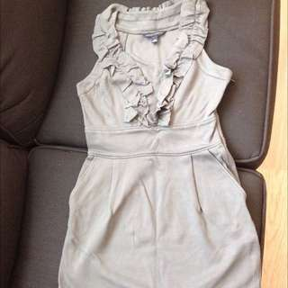 Banana Republic Grey Cotton Dress