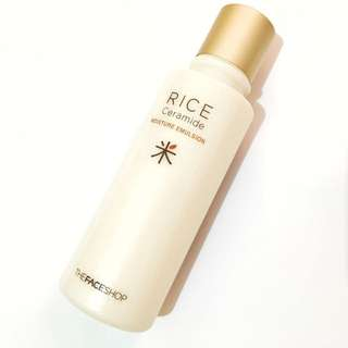 Rice & Ceramide Moisture Emulsion-the Face Shop for All Skin Types