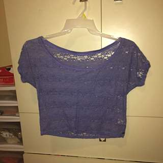 Garage Lace Crop Top