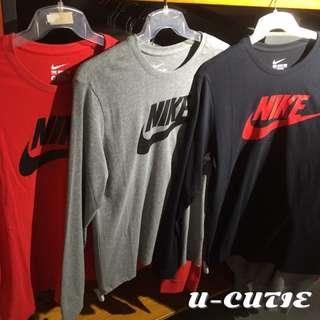 Nike logo薄長T 3色