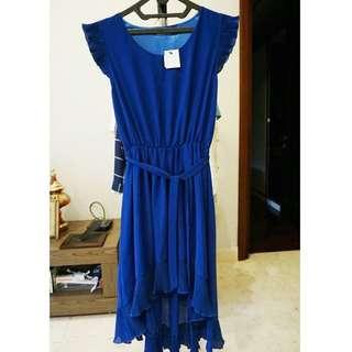Blue dress, chic simple