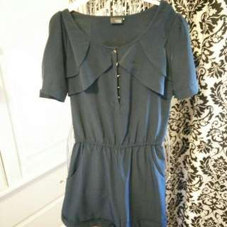 Urban Outfitters Sparkle & Fade Navy Romper (Size S)