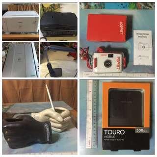 Printer, Scanner, Study Lights, Portable Hard Disk & Camera