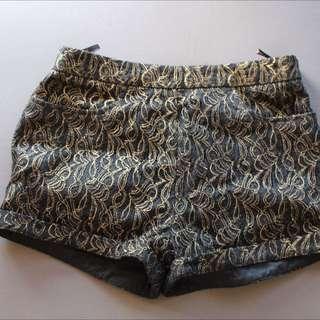 Black And Gold Shorts