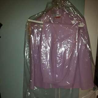 Purple Print Woman's Skirt Pant Suit