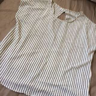 Open Back Stripe Blouse