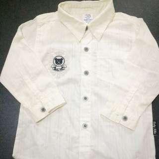 Baby Kiko Smart Shirt / Long Sleeve / White