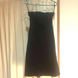 Portmans Strapless Black Knee Length Dress Size 10