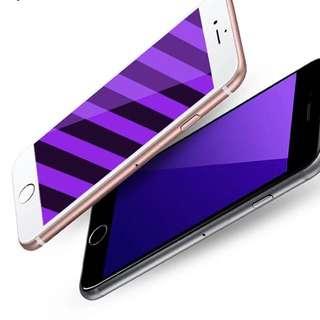 I6/6s+抗藍光*紫光版2.5D弧邊