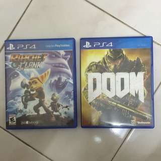 PS4 Doom and Ratchet & Clank