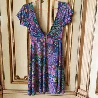 Mini Dress Batik Bunga