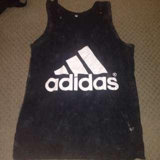 Acid Black Adidas Singlet