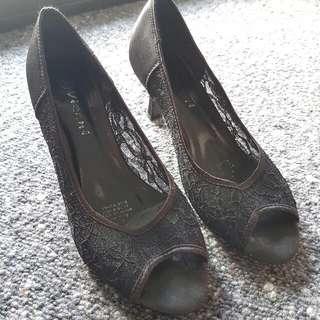 Black Lace Vizani Heels