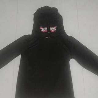 Tokyo Ghoul Hoodie/Jacket With Ghoul Mouth - Size (XL)