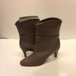Marc jacobs brown leather high heel short boots size 34.5