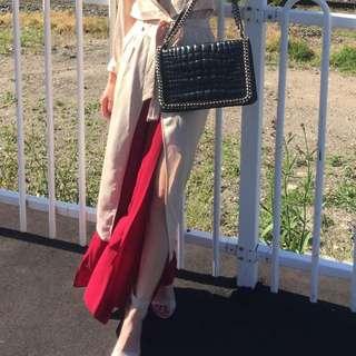 Zara Black Leather Handbag