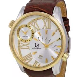 Joshua & Sons Dual Time Watch