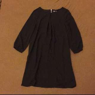 NET 全新連身雪紡黑色洋裝