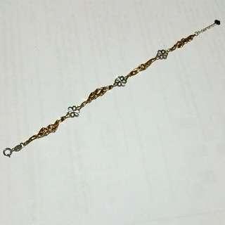 18k Rose And White Gold Bracelet