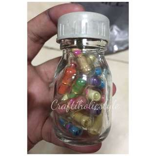 20 Pcs Transparent Message Capsule With Bottle