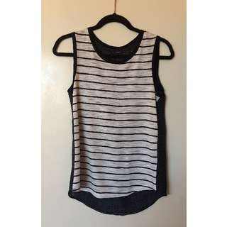 Storm stripe and spot contrast tank